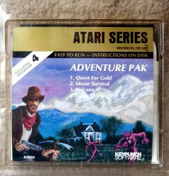 Adventure Pak: Quest for Gold, Moon Survival, Volcano, Super Slueth (Keypunch Software) (Atari 400/800)