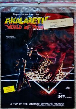 Akalabeth (Apple II) (missing original cover art (this is a replica))