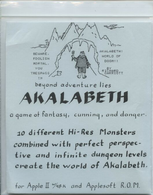 Akalabeth (Computerland) (Apple II)