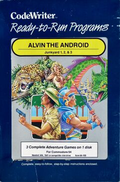 Alvin the Android: Junkyard 1, 2, & 3 (CodeWriter) (C64) (missing outer box)