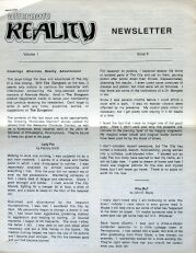 Alternate Reality Newsletter Volume 1 Issue 5