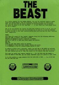 Beast, The (Marlin Games) (ZX Spectrum) (Contains Hint Sheet)
