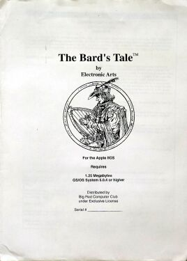 Bard's Tale I: Tales of the Unknown (Big Red Computer Club) (Apple II GS)
