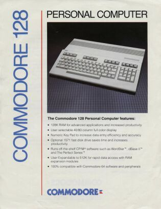 Commodore 128 Brochure