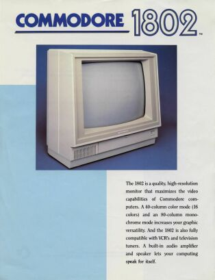 Commodore 1802 Brochure
