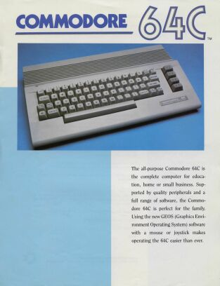 Commodore 64C Brochure