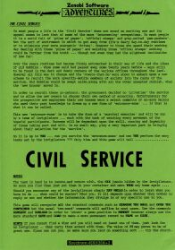 Civil Service, The (Amiga) (Contains Hint Sheet)