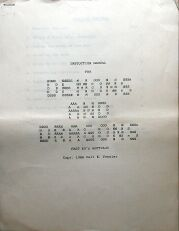 Demons & Dragons (Fast Ed's Software) (Colecovision ADAM)