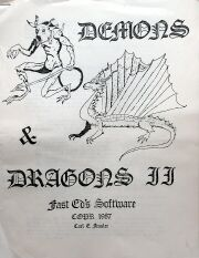 Demons & Dragons II (Fast Ed's Software) (Colecovision ADAM)
