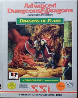 Dragons of Flame (Clamshell) (Amiga)
