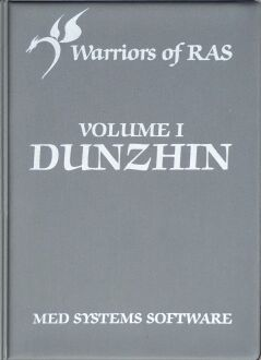 Warriors of Ras I: Dunzhin (folio) (Med Systems Software) (TRS-80)
