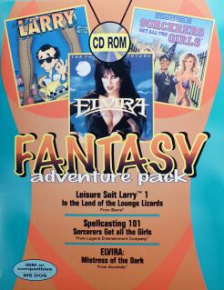 Fantasy Adventure Pack (Leisure Suit Larry in the Land of the Lounge Lizards; Spellcasting 101: Sorcerers Get all the Girls; Elvira)