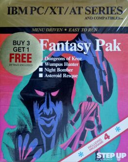 Fantasy Pak: Dungeons of Kroz, Wumpus Hunter, Night Bomber and Asteroid Resque (Keypunch Software) (IBM PC)