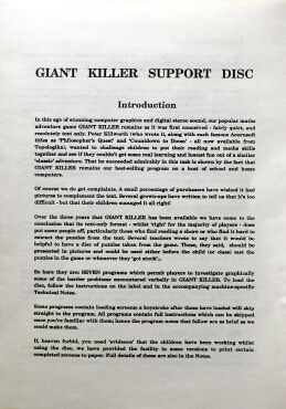 giantkiller-support-manual