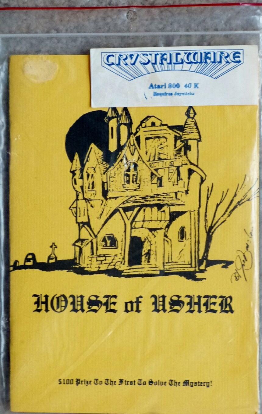 House of Usher (Alternate packaging) (Crystalware) (Atari 400/800)