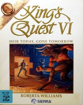 King's Quest VI: Heir Today, Gone Tomorrow (White) (IBM PC) (missing manual)
