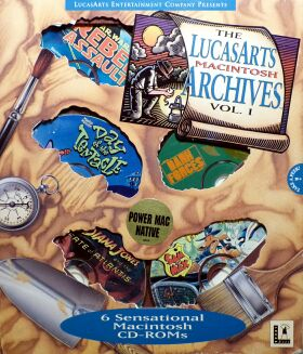 LucasArts Archives, The: Volume I (Star Wars: Rebel Assault, Super Sampler CD, Maniac Mansion 2: Day of the Tentacle, Dark Forces: Special Edition, Indiana Jones and the Fate of Atlantis, Sam & Max Hit the Road) (Macintosh)