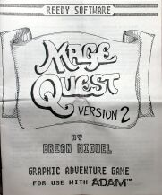 Mage Quest Version 2 (Reedy Software) (Colecovision ADAM)