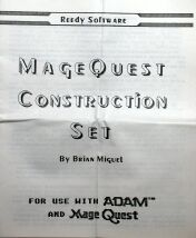 Mage Quest Construction Set (Reedy Software) (Colecovision ADAM)