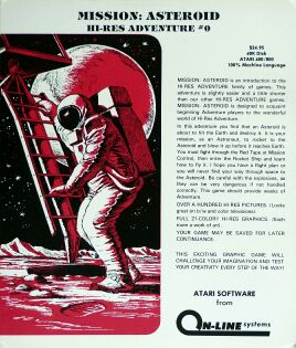 Mission: Asteroid (On-Line Systems) (Atari 400/800)
