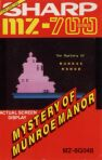 Mystery of Munroe Manor (Solo Software) (Sharp MZ-700)