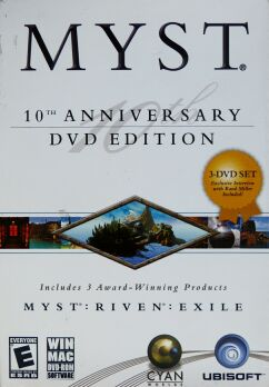 Myst 10th Anniversary DVD Edition: Myst, Riven, Exile (Ubisoft) (Macintosh/IBM PC) (missing Exile DVD)