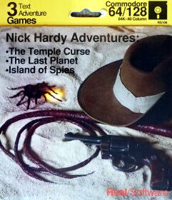 Nick Hardy Adventures: The Temple Curse, The Last Planet, Island of Spies (Real Software) (C64)