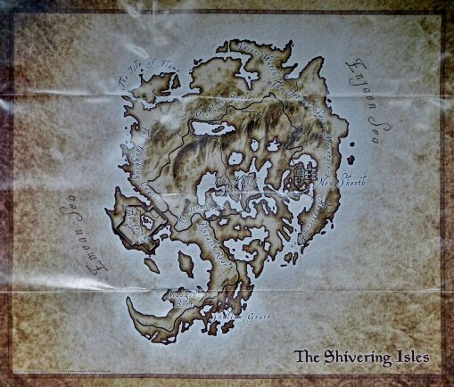 Elder Scrolls IV, The: Shivering Isles (Map only) (Bethesda Softworks)