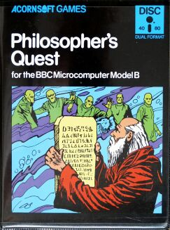 Philosopher's Quest (BBC Model B) (Disk Version) (missing hints envelope) (Contains Hint Book)