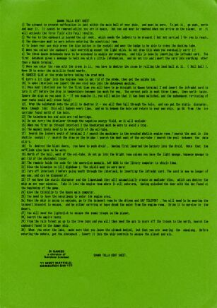 Quann Tulla (hint sheet only) (8th Day Software) (ZX Spectrum) (Contains Hint Sheet)