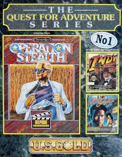 Quest for Adventure Series, The (includes Operation Stealth, Mean Streets, Indiana Jones and the Last Crusade Graphic Adventure) (U.S. Gold) (Atari ST)