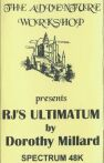 RJ's Ultimatum (Adventure Workshop, The) (ZX Spectrum)