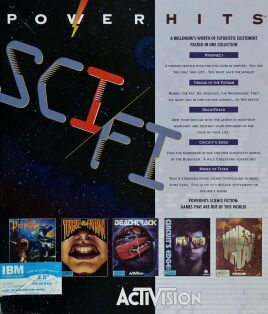 Sci Fi Powerhits (Prophecy; Tongue of the Fatman; DeathTrack; Circuit's Edge; Mines of Titan) (IBM PC)