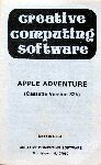 Adventure 1: Adventureland (Creative Computing Software) (Apple II) (missing inlay)