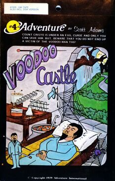 Adventure 4: Voodoo Castle (Early Cover Art) (Atari 400/800)