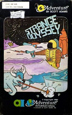 Adventure 6: Strange Odyssey (Early Cover Art) (Atari 400/800)