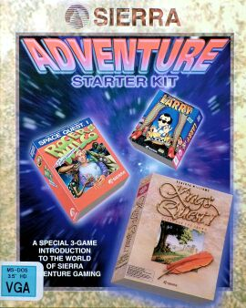 Sierra Adventure Starter Kit: Leisure Suit Larry in the Land of the Lounge Lizards, Space Quest I: The Sarien Encounter, King's Quest I: Quest for the Crown (IBM PC)