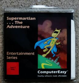 Supermartian... The Adventure (Blister Pack) (ComputerEasy) (Apple II)
